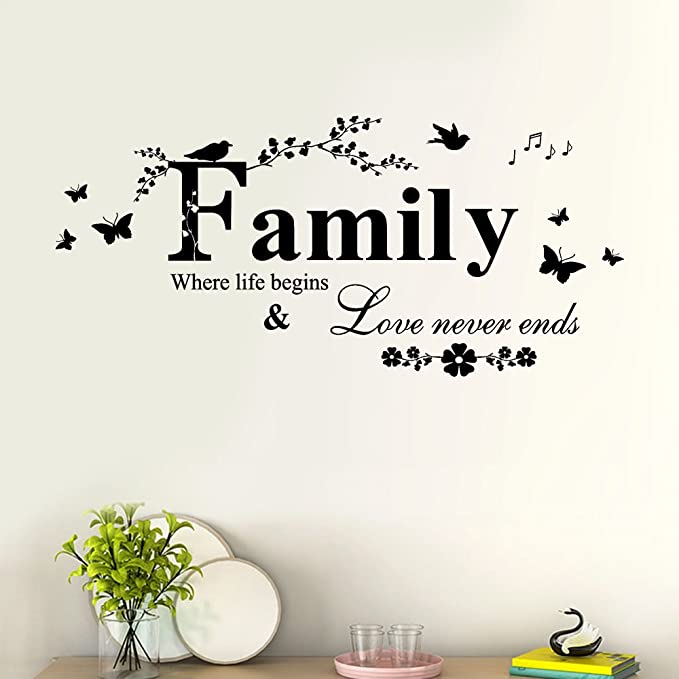 D151 Removable Word Pattern Wall Sticker Hallway Decor Art for Living Ca