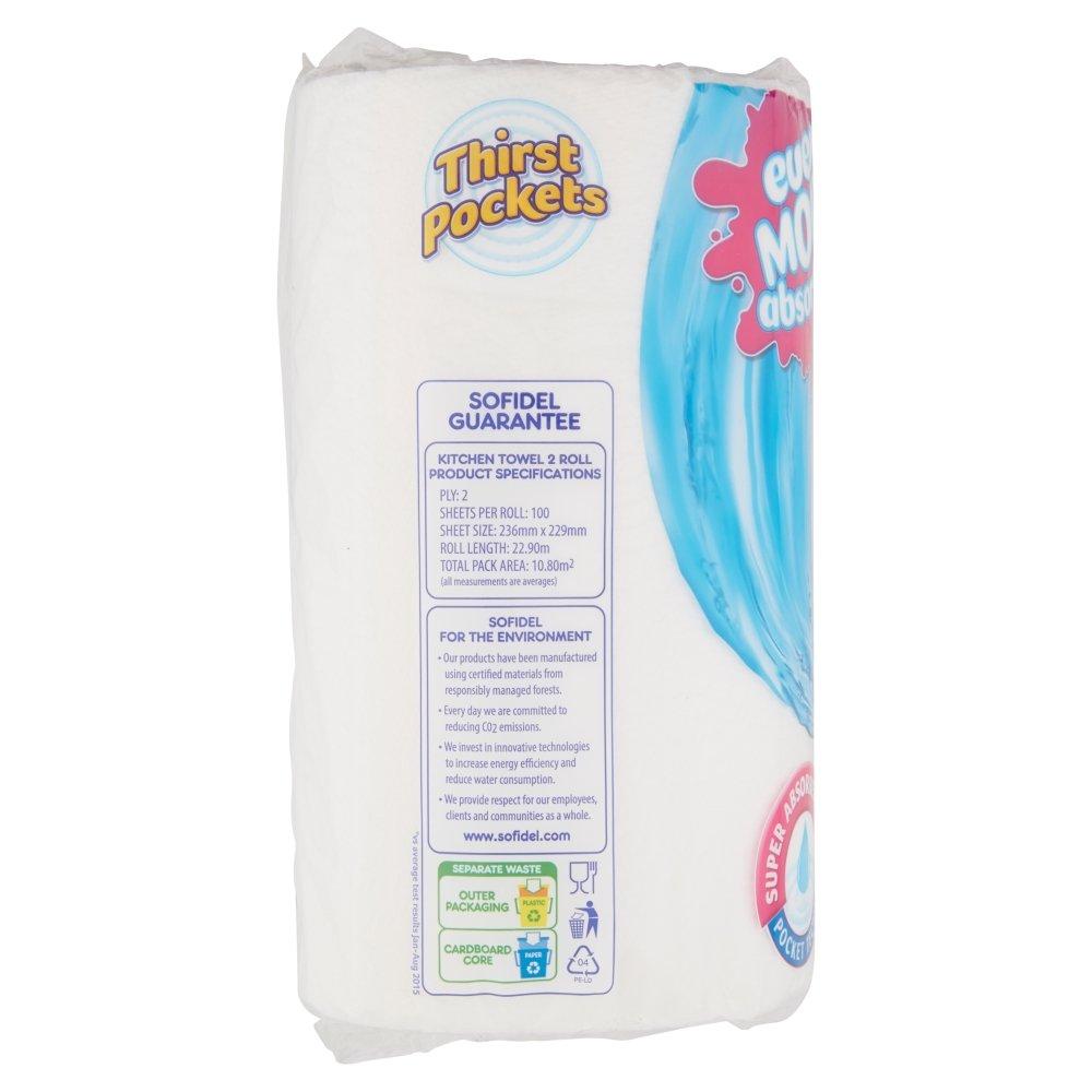 Thirst Pockets Extra Long White, 2 Rolls: Amazon.co.uk: Prime Pantry