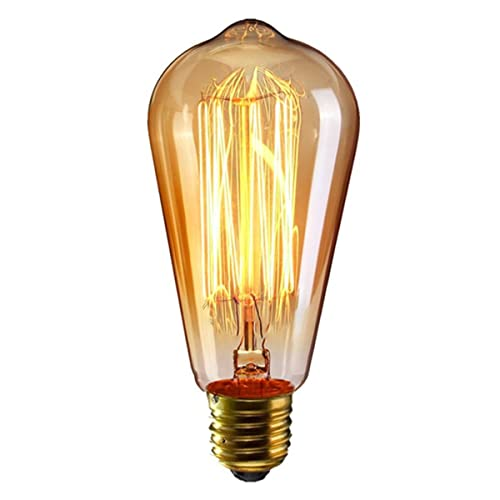 Ampoule E27 Filament Incandescente 40w Blanc Chaud: Douille Vintage: Amazon.fr
