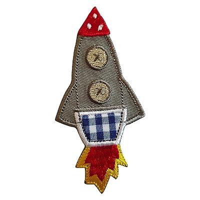 2 badges aufbügler Rustine applications Fusée 5 x 9 cm araignée 11 x 6 cm - Kit pour réparer des enfants Vêtements avec design TrickyBoo Zurich Suisse pour l'Allemagne et l'Autriche Cuisine & Maison