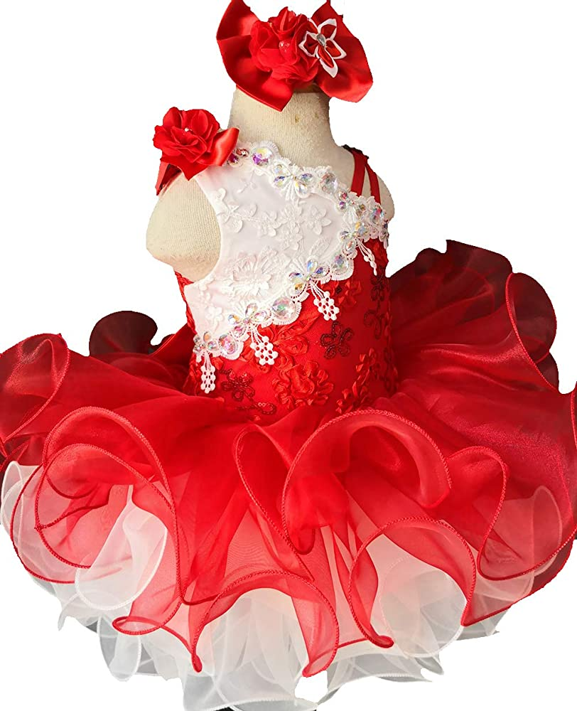 Infant Toddler Baby Newborn Little Girl/'s Pageant Dress G124red