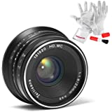 7artisans 25mm F1.8 Manual Focus Prime Fixed Lens for Fujifilm Fuji Cameras X-A1 X-A10 X-A2 X-A3 X-at X-M1 XM2 X-T1 X-T10 X-T2 X-T20 X-Pro1 X-Pro2 X-E1 X-E2 X-E2s - Black