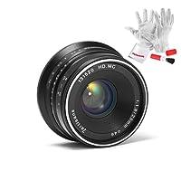 7artisans 25mm F1.8 Manual Focus Prime Fixed Lens for Fujifilm Fuji Cameras X-A1 X-A10 X-A2 X-A3 X-AT X-M1 XM2 X-T1 X-T10 X-T2 X-T20 X-Pro1 X-Pro2 X-E1 X-E2 X-E2s (Black)