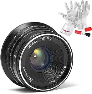 7artisans 25mm F1.8 Manual Focus Prime Fixed Lens for Olympus and Panasonic Micro Four Thirds MFT M4/3 Cameras - Black