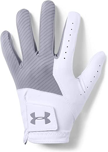 Under Armour 2021 Mens UA Medal Synthetic Textured Golf Gloves - LH