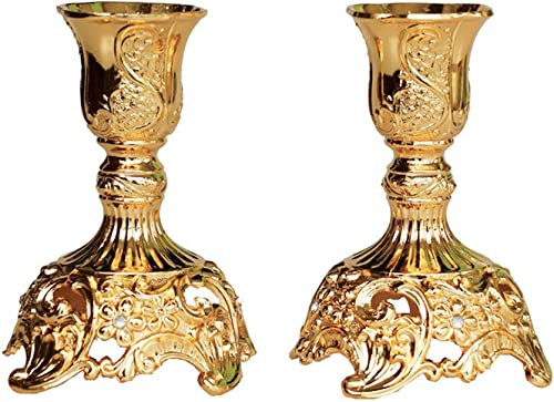 JAZPlayer Gold Taper Candle Holder