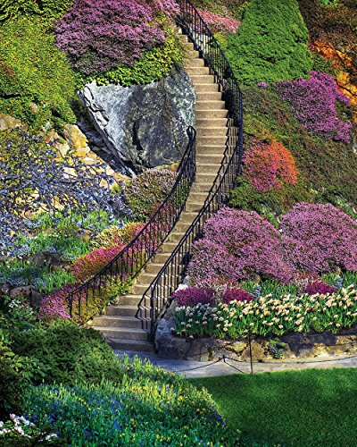 Springbok Puzzles - Garden Stairway - 500 Piece Jigsaw Puzzle - Large 18 Inches by 23.5 Inches Puzzle - Made in USA - Unique Cut Interlocking Pieces