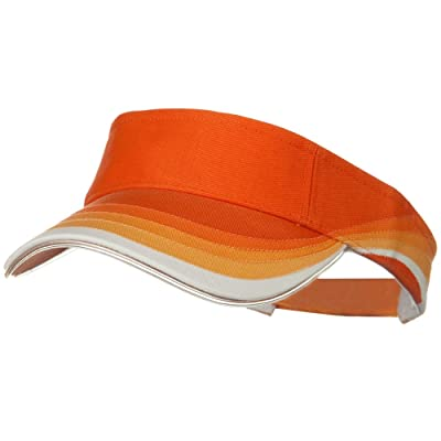 3 Panel Wave Cotton Piping Visor