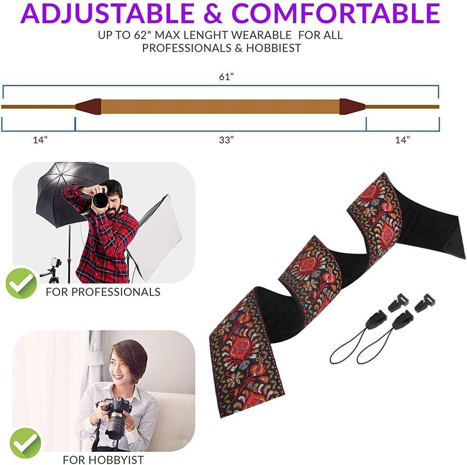Nation Style Camera Strap Soft Scarf Camera Neck Shoulder Strap Belt