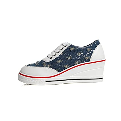 366d19971b0df Amazon.com: Women's Shoes Canvas Spring Fall Comfort Sneakers For ...