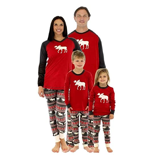 Imixshop Christmas Family Elk Matching Sleepwear Deer Pajamas Set Nightwear   Amazon.ca  Clothing   Accessories c3ba30ca5