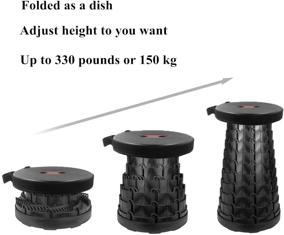 YYAN Folding Stool Portable Telescoping Seat Plastic Retractable Adjustable Outdoor Camping