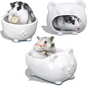 maohegou Syrian Hamster Ceramic Accessories Golden Hamster Habitat Syrian Hamster Food Bowl Golden Hamster Toilet Gakaria Hamster Food Bowl Roborowski Hamster Bathtub Campbell Hamster Bowl