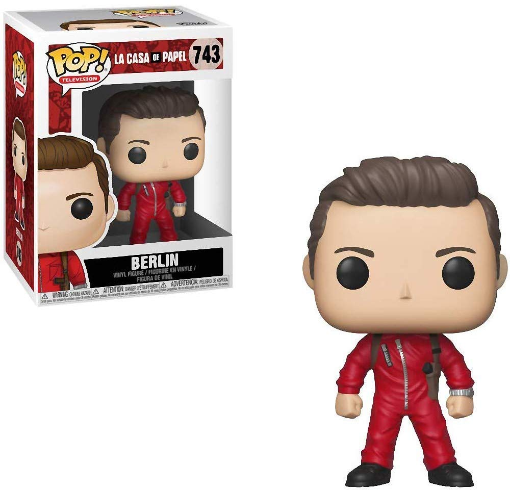 Berlin Pop Funko Money Heist: La Casa De Papel Includes Compatible Pop Box Protector Case Vinyl Figure