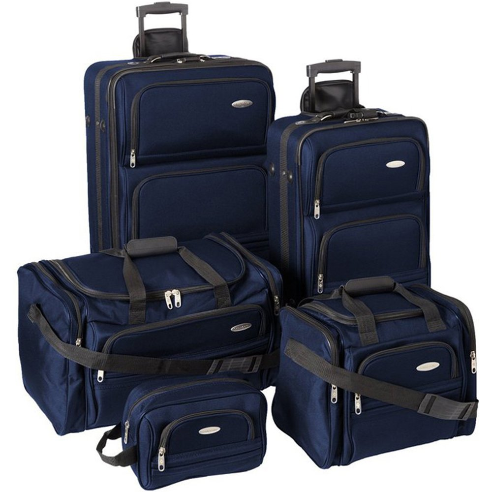 Samsonite Luggage Set - 5-Piece Nested Set, Navy Blue