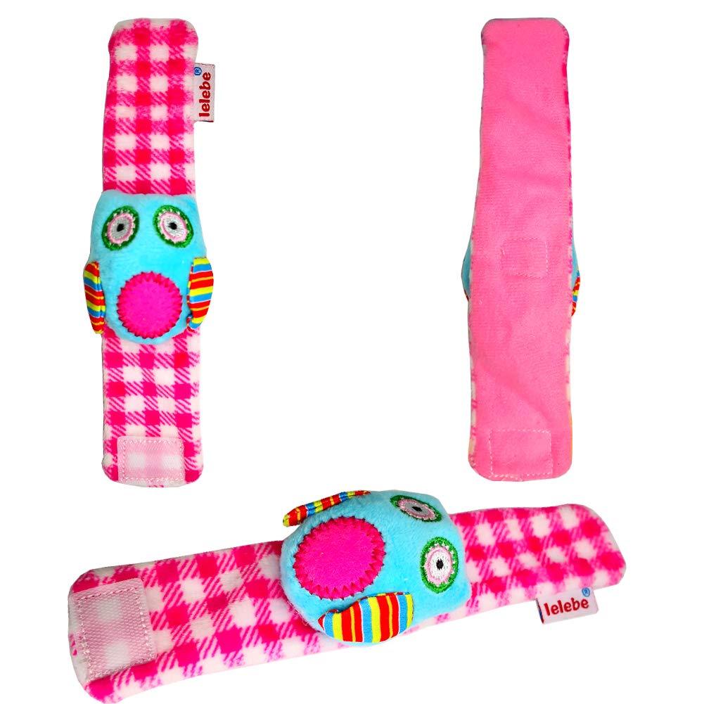 Developmental Soft Animal Toys, Baby Wrist Rattles and Foot Finder Sock Toys Set gxl58n 4 Packs