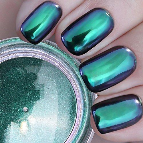 PrettyDiva Opal Chrome Nail Powder, Pure Mirror Effect