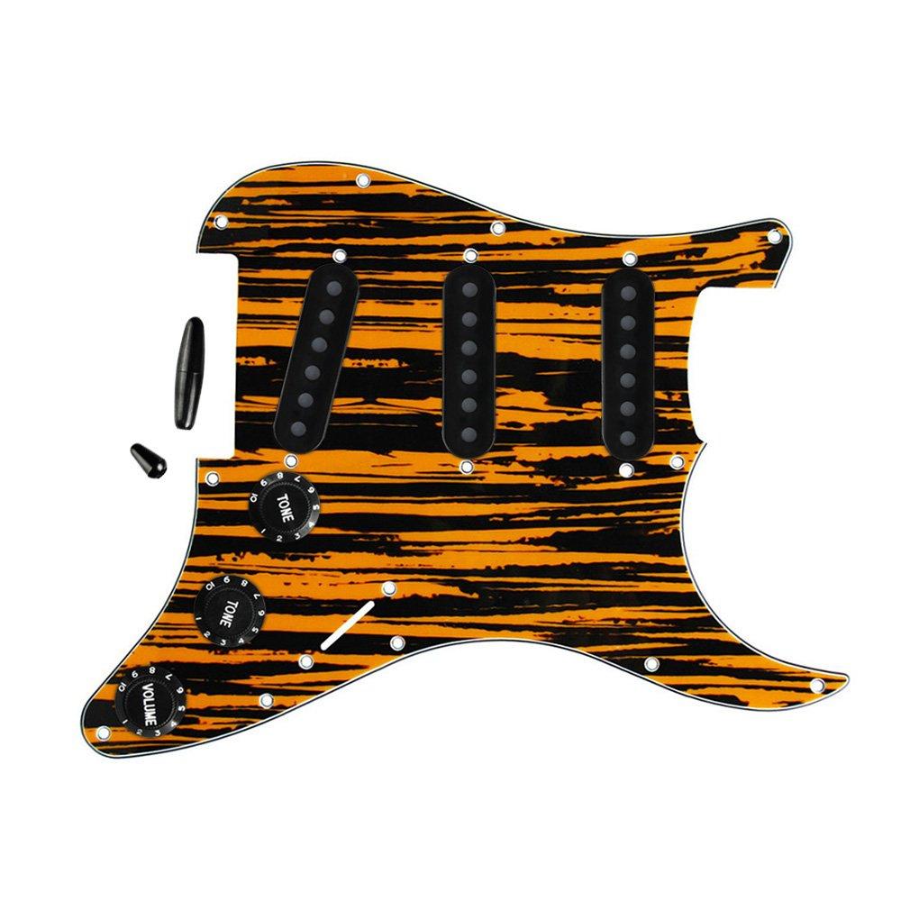 FLEOR guitarra Golpeador SSS estilo placa de Scratch con partes de ...