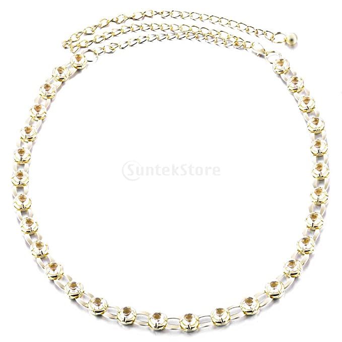 0838b8c0ddf04d Baoblaze Damen Taillengürtel Hüftgürtel Bindegürtel Taille Kettengürtel  Kleid Dekoration - Gold, 120CM