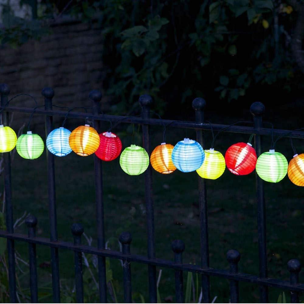 Multicolore 10 Smart Garden Products Ltd 1060050PS ALTUNA 1060050PS-Guirnalda linternas silueta China ref