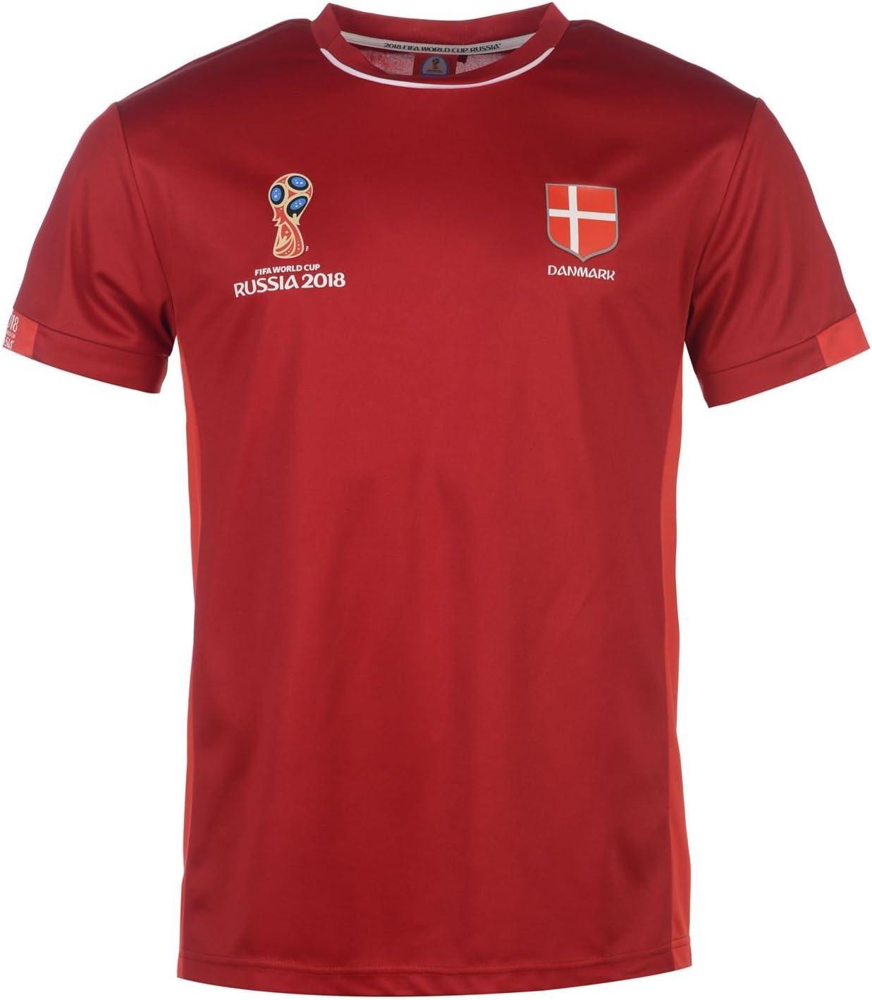 FIFA World Cup 2018 - Camiseta de fútbol para Hombre, Color Rojo ...
