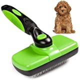 Self-Cleaning Slicker Brush, Grooming Brush for Dogs & Cats with Medium or Long Hair, Pet Shedding Comb for Dead Hair and Tangles