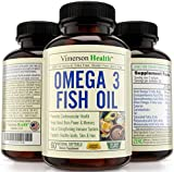 Omega 3 Fish Oil Supplement, Non-Gmo, 100% All Natural, Gluten Free Pills. Supports Brain, Memory, Focus, Cognition, Heart, Joints, Eyes, Skin & Hair - 60 Lemon Flavor Softgels