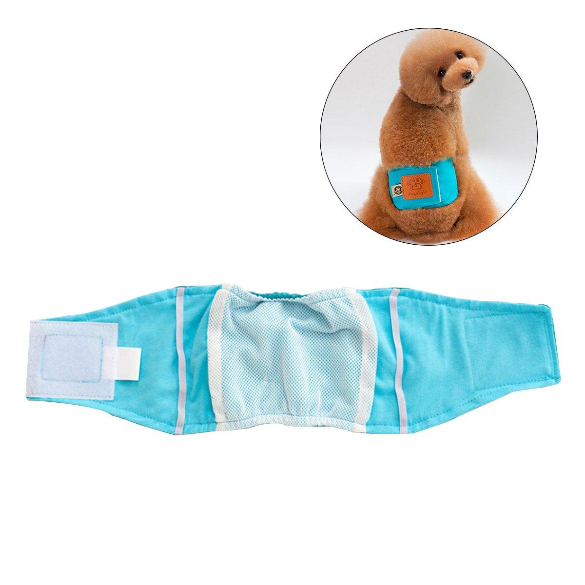 UEETEK Pet Couche Sanitaire Physiologique Pantalon Lavable Mâle Chien Short Culotte Menstruation Sous-Vêtements Taille M