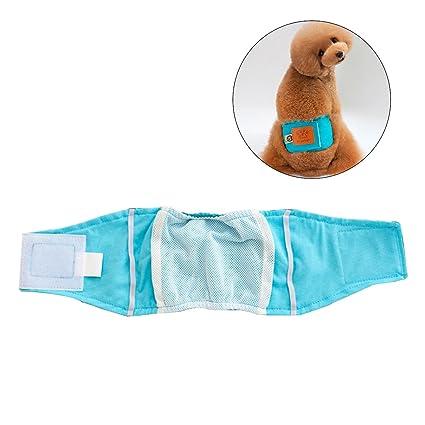 UEETEK Pet Pañal Sanitario Pantalones Fisiológicos Lavables Pantalones Cortos para Perros Bragas Menstruación Ropa Interior Talla