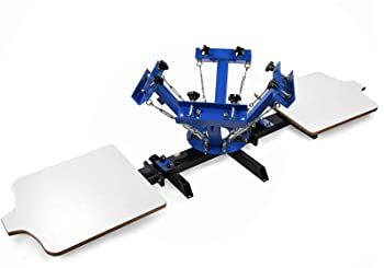 SHZOND 4 Color 2 Station 21.7 x 17.7 Screen Printing Press