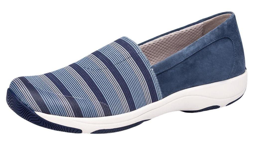 Dansko Women's Harriet Loafer Flat, Blue Stretch Suede, 36 M EU (5.5-6 US)