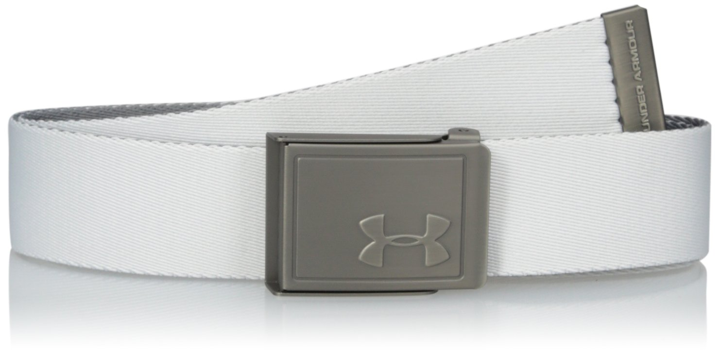 Under Armour Solid Webbing Belt Black (001)/Silver One Size Under Armour Accessories 1305463