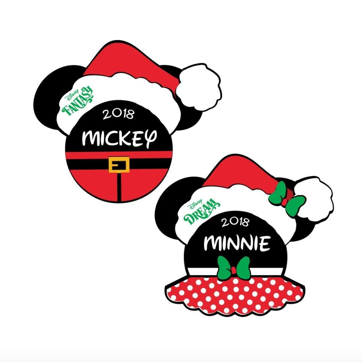 Christmas Clipart Santa.Disney Cruise Christmas Magnet Santa Mickey Minnie Magnets For Disney Cruise Disney Cruise Christmas Door Magnet Disney Cruise Magnets