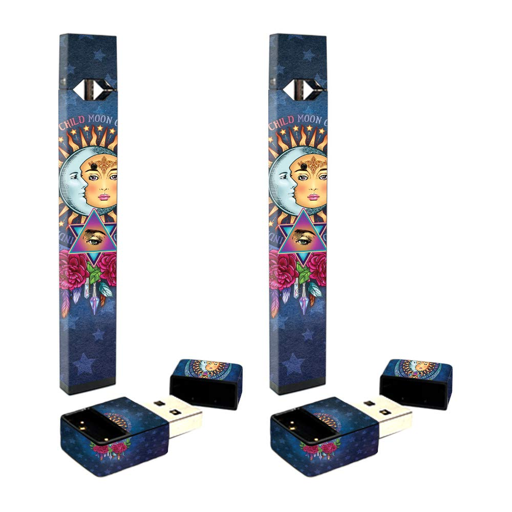 MightySkins Skin Compatible with Juul Full Coverage 2-Pack - Star Child | Protective, Durable, and Unique Vinyl Decal wrap Cover | Easy to Apply, Remove, and Change Styles | Made in The USA by MightySkins