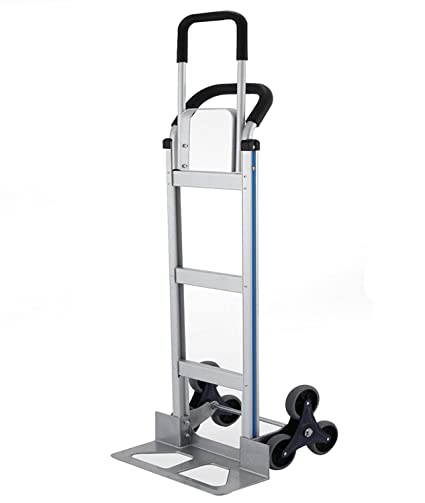 BLTPress VD-33862TL 550LBS Capacity Aluminum Heavy Duty Stair Climber Hand  Truck Dolly Assisted Utility Cart with Flat Free Wheels, Ultrasonic Pest