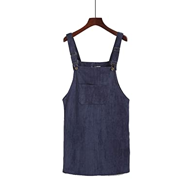 b4d051ea3e Auspiciousi Summer Women Skirts 2018 Casual Corduroy Suspender ...