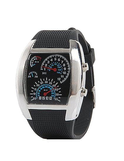 Samgu-Reloj hombre Aviador Estilo Digital Matrix LED