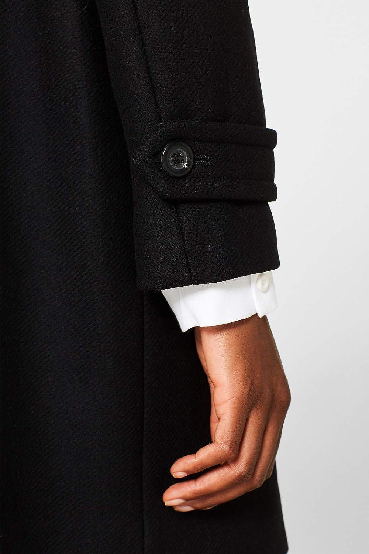 ESPRIT Collection Manteau en Laine Noir
