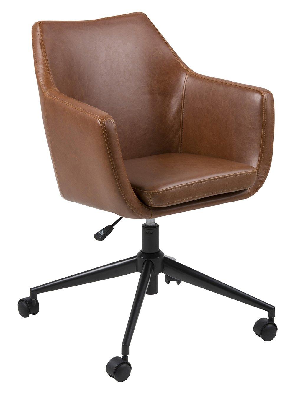 AC Design Furniture Bürostuhl Trine, B  58 x T 58 x H  95 cm, Metall, Braun