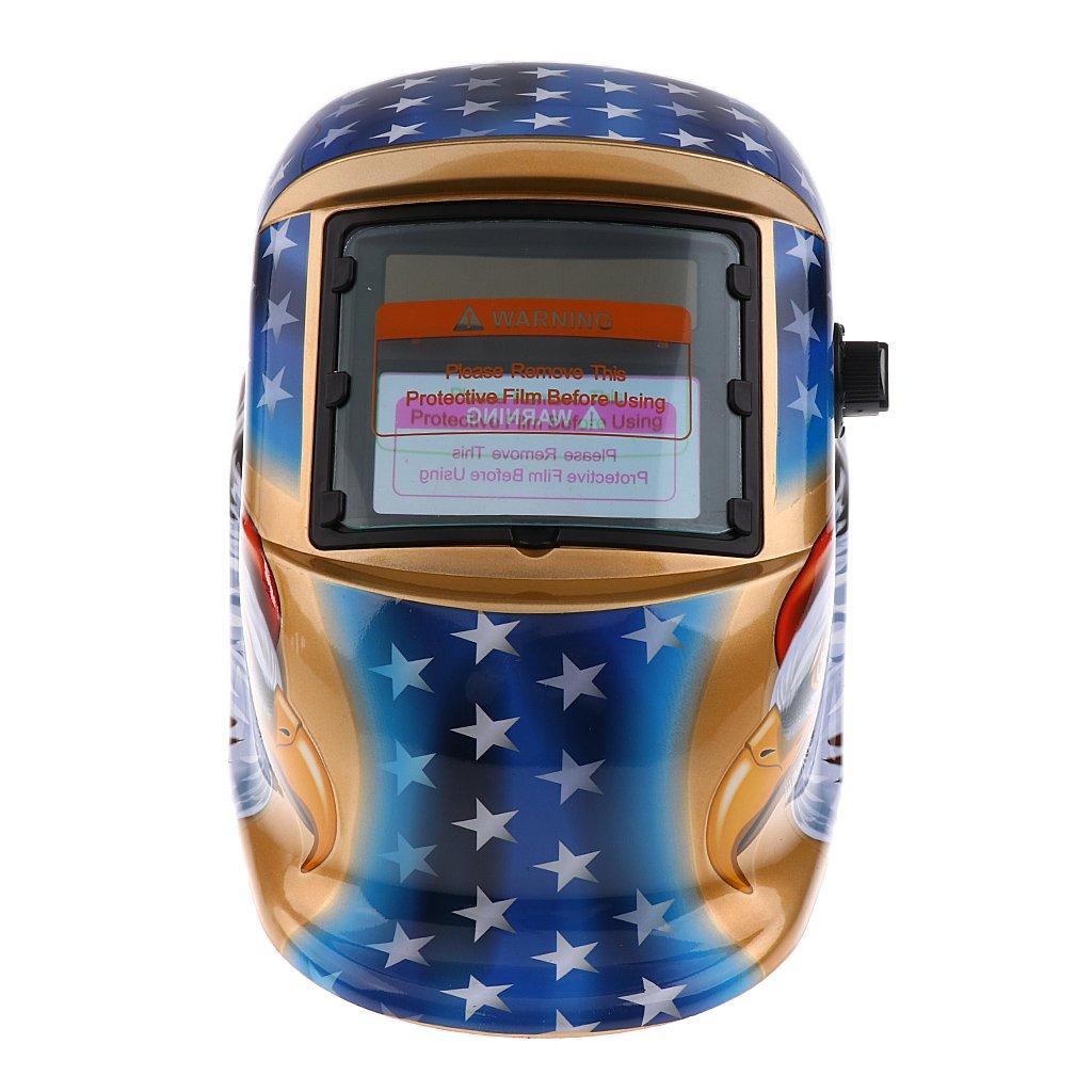 Energía Solar Oscurecimiento Automático Caretas para Soldar Casco de Soldadura Escudo de Soldadura Gafas Máscara de águila-1: Amazon.es: Bricolaje y ...