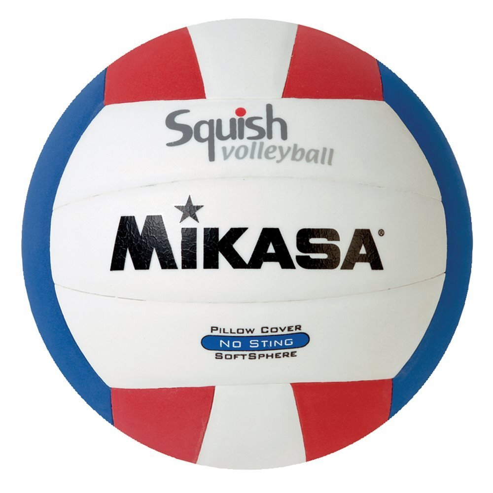 Mikasa Squish No-Sting Pillow Cover Volleyball (Red/White/Blue)