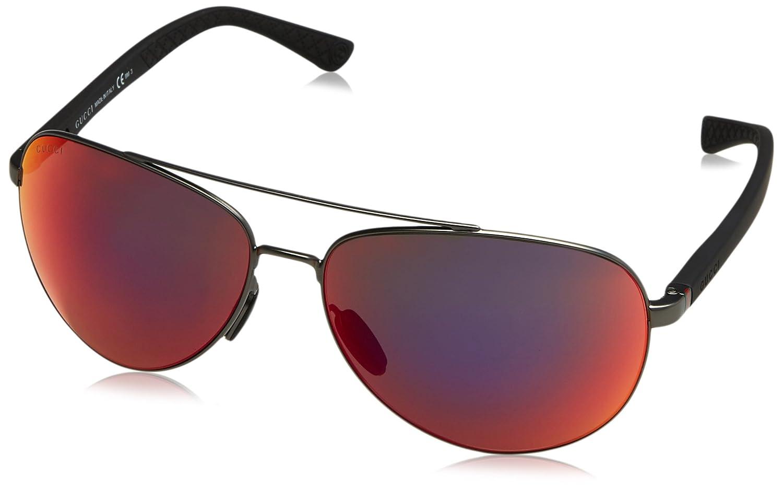 Gucci GG 2266/S Gafas de Sol, Silver Frame, 63 para Hombre ...