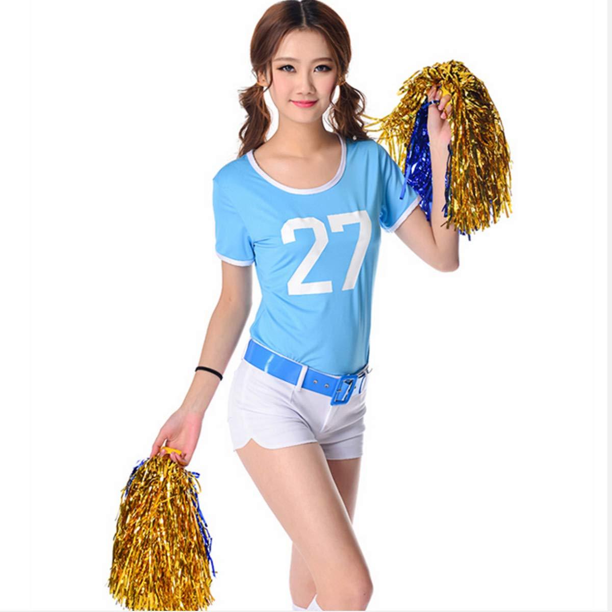 6 Pcs Cheerleading Pom Poms Plastic Cheerleader Pom Poms Party Costume Accessory Set Ball Dance Fancy Dress Night Party Sports Pompoms Cheer STUDYY .