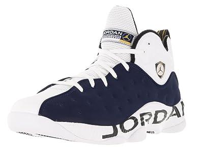 newest b7f9b 53a5b Nike Jumpman Basketball Team II, Blau Weiß (Mid Nvy Mid Nvy
