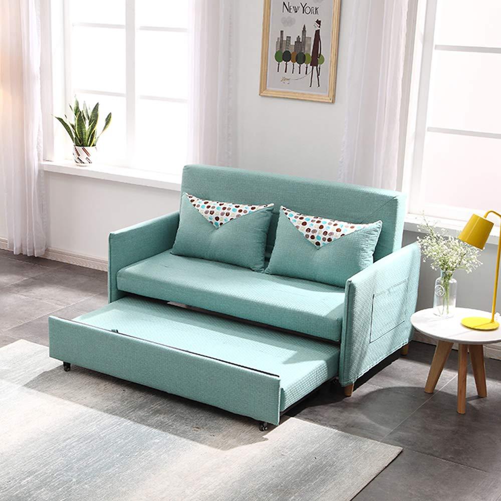 Amazon.com: Sofa Bed 2 Seater with 2 Pillows Folding Iron ...