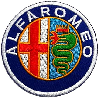"""ALFA ROMEO   iron on embroidery patch 2.5/"""" x 2.5/"""" INCH AUTO CAR PATCHES CREST"""