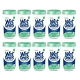Wet Ones Sensitive Skin Hand Wipes Canister, 40 Count – 10 Pack For Sale