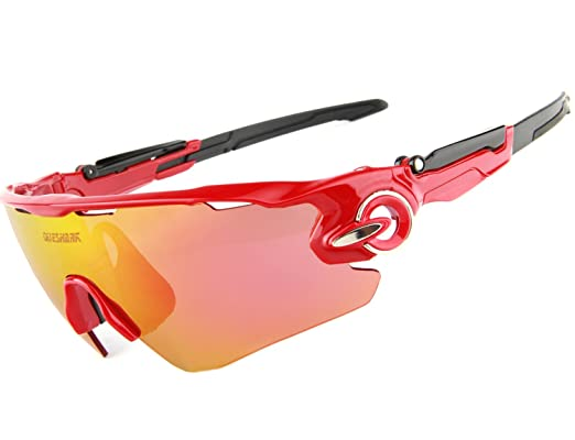 90888234e9 Queshark Sports Polarized Cycling Sunglasses Bike Bicycle Goggle Eyewear  (Color 07