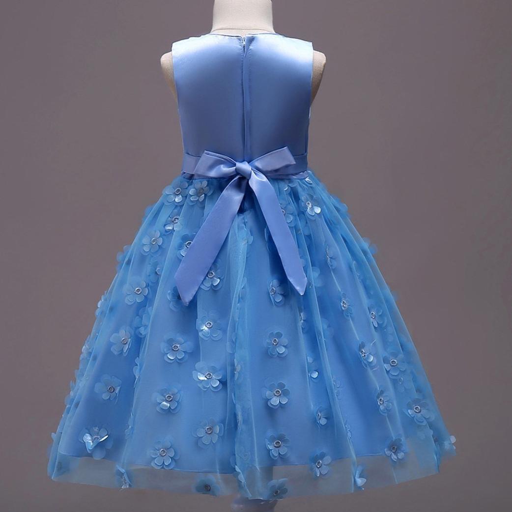 Remoción bestoppen bebé niñas vestido de princesa de fiesta, en, lindo manga larga Swing Mini vestidos de tul para niña a-Line vestidos de novia (vestido de ...