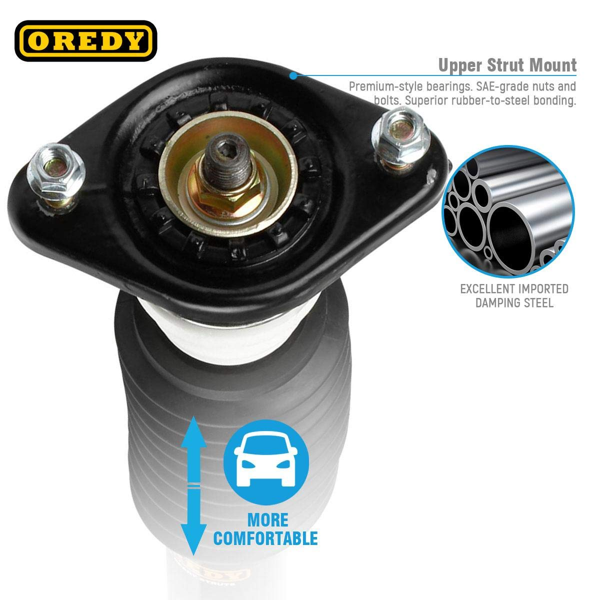OREDY Rear Pair Complete Struts Assembly Shock Assembly Kit SR4023 171799 15390 Compatible with Buick Lesabre//Pontiac Bonneville 1987 1988 1989 1990 1991 1992 1993 1994 1995 1996 1997 1998 1999